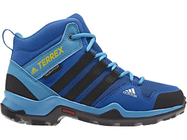 adidas TERREX AX2R Mid CP Shoes Kinder blue beauty/core black/shoyel